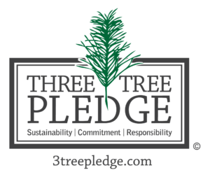 three tree pledge logo